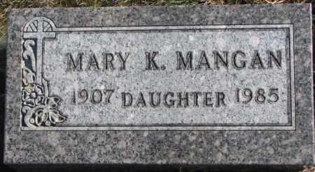 MANGAN, MARY K. - Union County, South Dakota | MARY K. MANGAN - South Dakota Gravestone Photos