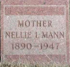 MANN, NELLIE I - Union County, South Dakota   NELLIE I MANN - South Dakota Gravestone Photos