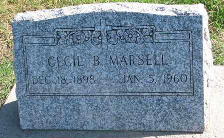 MARSELL, CECIL B. - Union County, South Dakota | CECIL B. MARSELL - South Dakota Gravestone Photos