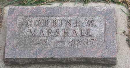 MARSHALL, CORRINE W. - Union County, South Dakota | CORRINE W. MARSHALL - South Dakota Gravestone Photos