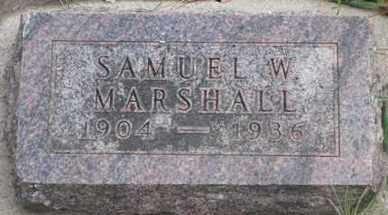MARSHALL, SAMUEL W. - Union County, South Dakota | SAMUEL W. MARSHALL - South Dakota Gravestone Photos