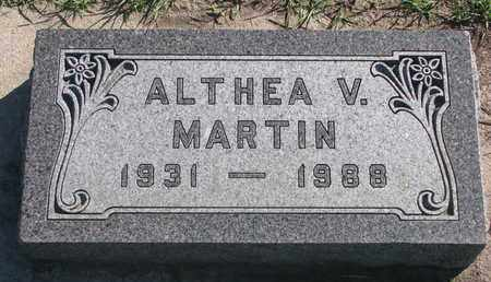 MARTIN, ALTHEA V. - Union County, South Dakota | ALTHEA V. MARTIN - South Dakota Gravestone Photos