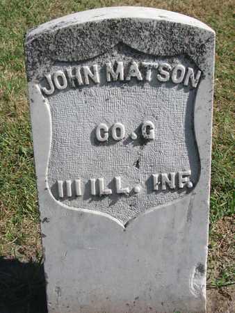 MATSON, JOHN - Union County, South Dakota   JOHN MATSON - South Dakota Gravestone Photos