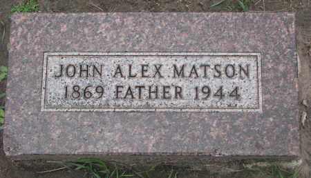 MATSON, JOHN ALEX - Union County, South Dakota   JOHN ALEX MATSON - South Dakota Gravestone Photos