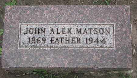 MATSON, JOHN ALEX - Union County, South Dakota | JOHN ALEX MATSON - South Dakota Gravestone Photos
