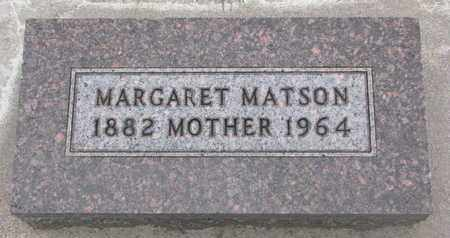 MATSON, MARGARET - Union County, South Dakota | MARGARET MATSON - South Dakota Gravestone Photos