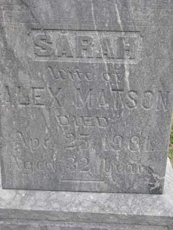 MATSON, SARAH (CLOSEUP) - Union County, South Dakota | SARAH (CLOSEUP) MATSON - South Dakota Gravestone Photos