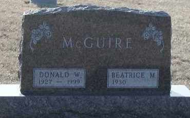 MCGUIRE, DONALD WILLIAM - Union County, South Dakota | DONALD WILLIAM MCGUIRE - South Dakota Gravestone Photos