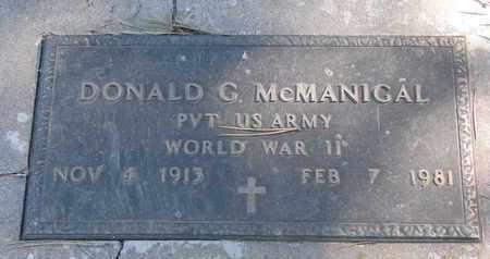 MCMANIGAL, DONALD G. (WORLD WAR II) - Union County, South Dakota   DONALD G. (WORLD WAR II) MCMANIGAL - South Dakota Gravestone Photos