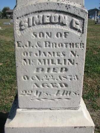 MCMILLIN, SIMEON C. (CLOSEUP) - Union County, South Dakota   SIMEON C. (CLOSEUP) MCMILLIN - South Dakota Gravestone Photos