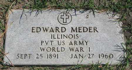 MEDER, EDWARD (WORLD WAR I) - Union County, South Dakota   EDWARD (WORLD WAR I) MEDER - South Dakota Gravestone Photos