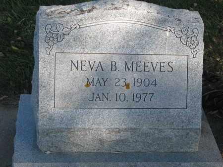 MEEVES, NEVA B. - Union County, South Dakota | NEVA B. MEEVES - South Dakota Gravestone Photos