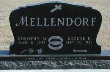 MELLENDORF, EUGENE H - Union County, South Dakota   EUGENE H MELLENDORF - South Dakota Gravestone Photos