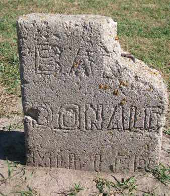 MILLER, BABY DONALD - Union County, South Dakota   BABY DONALD MILLER - South Dakota Gravestone Photos