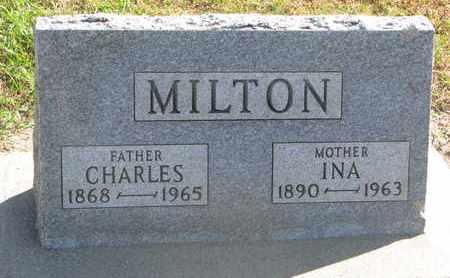 MILTON, CHARLES - Union County, South Dakota   CHARLES MILTON - South Dakota Gravestone Photos