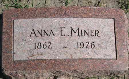 MINER, ANNA E. - Union County, South Dakota | ANNA E. MINER - South Dakota Gravestone Photos