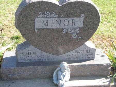 MINOR, CLIFFORD J. - Union County, South Dakota   CLIFFORD J. MINOR - South Dakota Gravestone Photos