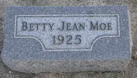 MOE, BETTY JEAN - Union County, South Dakota | BETTY JEAN MOE - South Dakota Gravestone Photos