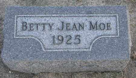 MOE, BETTY JEAN - Union County, South Dakota   BETTY JEAN MOE - South Dakota Gravestone Photos