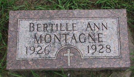 MONTAGNE, BERTILLE ANN - Union County, South Dakota | BERTILLE ANN MONTAGNE - South Dakota Gravestone Photos