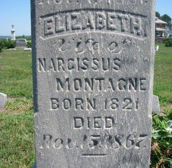 MONTAGNE, ELIZABETH (CLOSEUP) - Union County, South Dakota | ELIZABETH (CLOSEUP) MONTAGNE - South Dakota Gravestone Photos