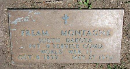 MONTAGNE, FREAM (WORLD WAR II) - Union County, South Dakota | FREAM (WORLD WAR II) MONTAGNE - South Dakota Gravestone Photos