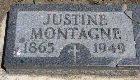 MONTAGNE, JUSTINE - Union County, South Dakota | JUSTINE MONTAGNE - South Dakota Gravestone Photos