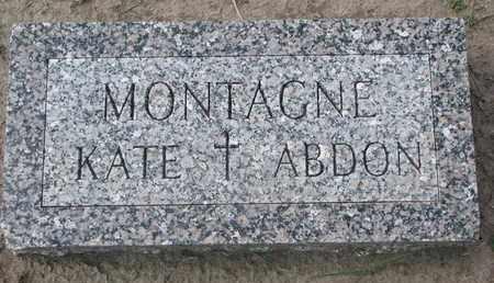 MONTAGNE, KATE - Union County, South Dakota | KATE MONTAGNE - South Dakota Gravestone Photos
