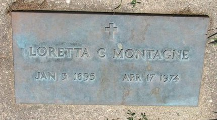 MONTAGNE, LORETTA C. - Union County, South Dakota | LORETTA C. MONTAGNE - South Dakota Gravestone Photos