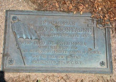 MONTAGNE, LEO R. (WORLD WAR I) - Union County, South Dakota | LEO R. (WORLD WAR I) MONTAGNE - South Dakota Gravestone Photos