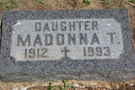 MONTAGNE, MADONNA T. - Union County, South Dakota | MADONNA T. MONTAGNE - South Dakota Gravestone Photos