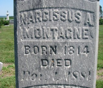 MONTAGNE, NARCISSUS A. (CLOSEUP) - Union County, South Dakota | NARCISSUS A. (CLOSEUP) MONTAGNE - South Dakota Gravestone Photos