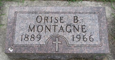 MONTAGNE, ORISE B. - Union County, South Dakota | ORISE B. MONTAGNE - South Dakota Gravestone Photos