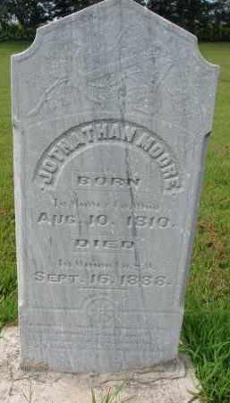 MOORE, JOTHATHAN - Union County, South Dakota | JOTHATHAN MOORE - South Dakota Gravestone Photos