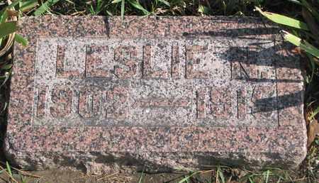 MOORE, LESLIE N. - Union County, South Dakota | LESLIE N. MOORE - South Dakota Gravestone Photos