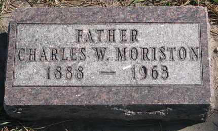 MORISTON, CHARLES W. - Union County, South Dakota | CHARLES W. MORISTON - South Dakota Gravestone Photos