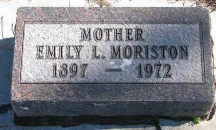 MORISTON, EMILY L. - Union County, South Dakota | EMILY L. MORISTON - South Dakota Gravestone Photos