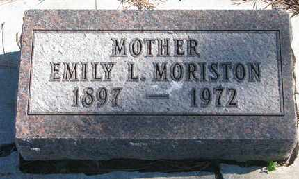 MORISTON, EMILY L. - Union County, South Dakota | EMILY L. MORISTON - South Dakota Gravestone Photos