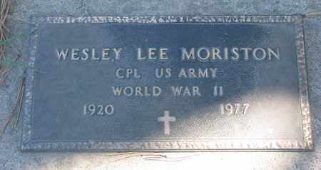 MORISTON, WESLEY LEE (WORLD WAR II) - Union County, South Dakota   WESLEY LEE (WORLD WAR II) MORISTON - South Dakota Gravestone Photos