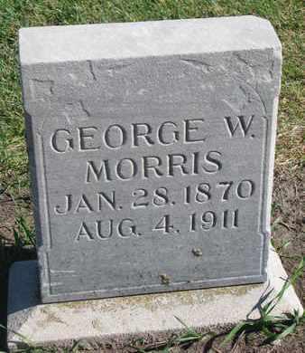 MORRIS, GEORGE W. - Union County, South Dakota | GEORGE W. MORRIS - South Dakota Gravestone Photos