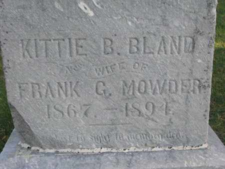 MOWDER, KITTIE B. (CLOSEUP) - Union County, South Dakota | KITTIE B. (CLOSEUP) MOWDER - South Dakota Gravestone Photos