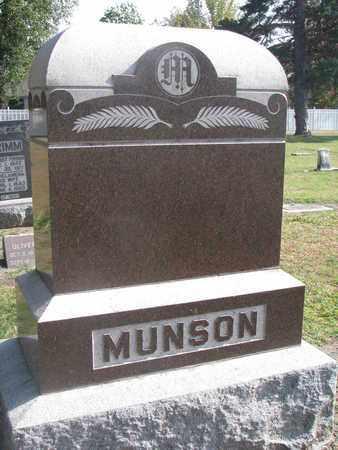 MUNSON, FAMILY STONE - Union County, South Dakota   FAMILY STONE MUNSON - South Dakota Gravestone Photos
