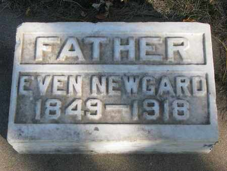 NEWGARD, EVEN - Union County, South Dakota   EVEN NEWGARD - South Dakota Gravestone Photos