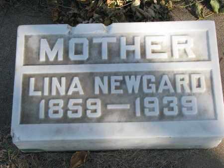 NEWGARD, LINA - Union County, South Dakota | LINA NEWGARD - South Dakota Gravestone Photos