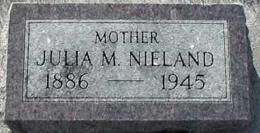 NIELAND, JULIA M - Union County, South Dakota   JULIA M NIELAND - South Dakota Gravestone Photos