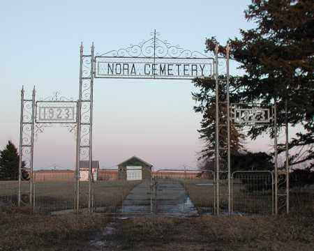 *NORA, GATE - Union County, South Dakota | GATE *NORA - South Dakota Gravestone Photos