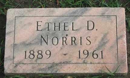 NORRIS, ETHEL D. - Union County, South Dakota | ETHEL D. NORRIS - South Dakota Gravestone Photos