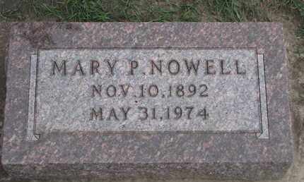 NOWELL, MARY P. - Union County, South Dakota | MARY P. NOWELL - South Dakota Gravestone Photos