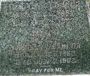 O'CONNOR, MARY - CLOSE UP - Union County, South Dakota | MARY - CLOSE UP O'CONNOR - South Dakota Gravestone Photos