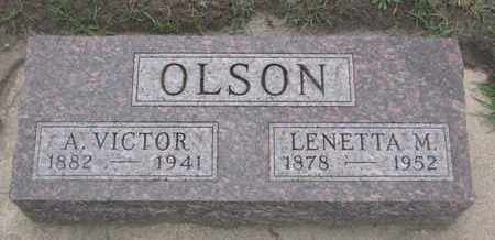 OLSON, A. VICTOR - Union County, South Dakota | A. VICTOR OLSON - South Dakota Gravestone Photos